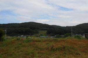 敷地裏側からの風景