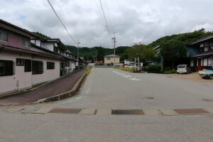 広い北側道路(外観)