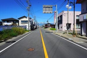 前面道路 南側から北側を撮影(周辺)